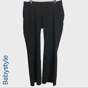 🌈 Babystyle black maternity bootcut trousers